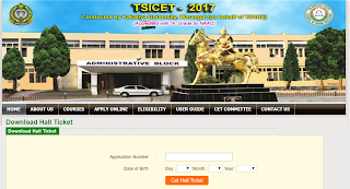 TS ICET 2017 Hall Tickets www.teacher4us.com