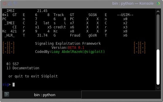 SigPloit - Telecom Signaling Exploitation Framework - SS7, GTP
