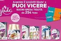 Logo Vinci 600 Card Tigotà da 25€ con i prodotti Glade