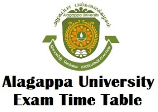 Alagappa University DDE Exam Time Table 2017