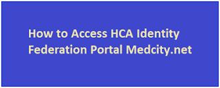 HCA Identity Federation Portal Medcity.net