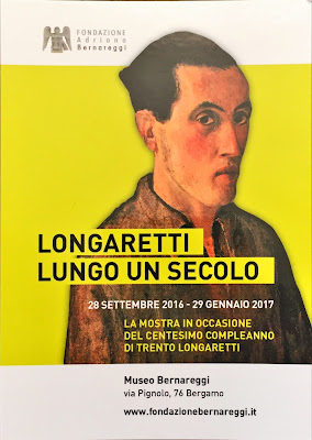 Flyer for the Longaretti Exhibition.