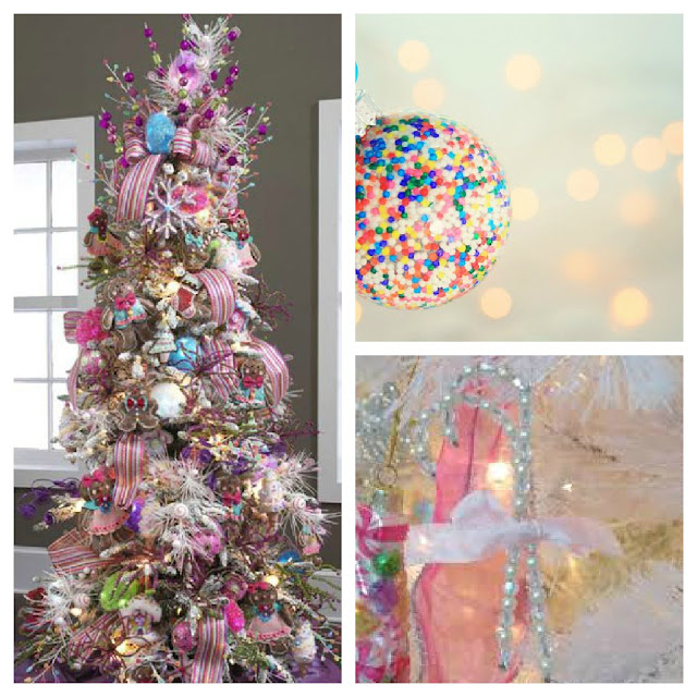 Christmas Tree Color Schemes from Setting for Four #Christmas #Color Palette #Christmas tree