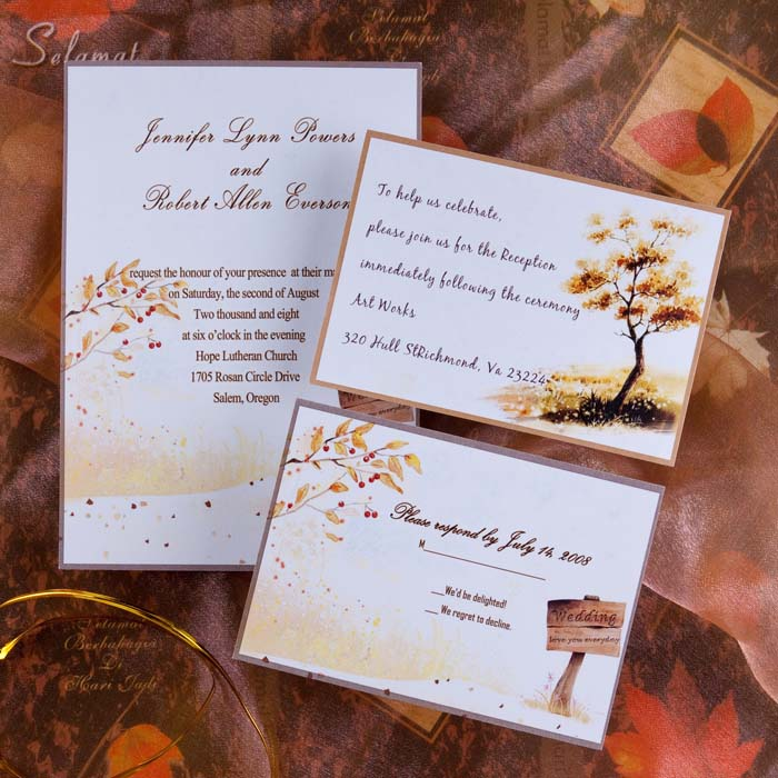 Top 5 Autumn/Fall Wedding Invitation Ideas