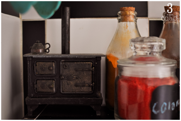 prateleira para temperos na cozinha