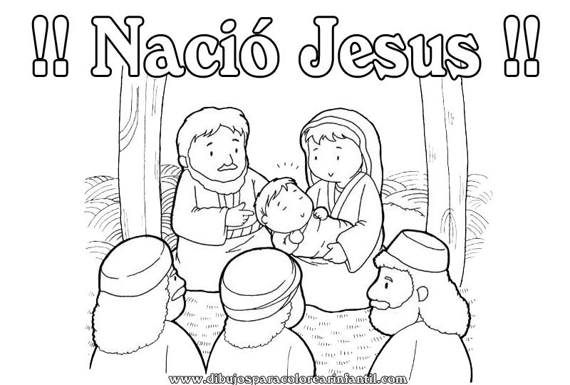 Imagenes de jesus en navidad para colorear