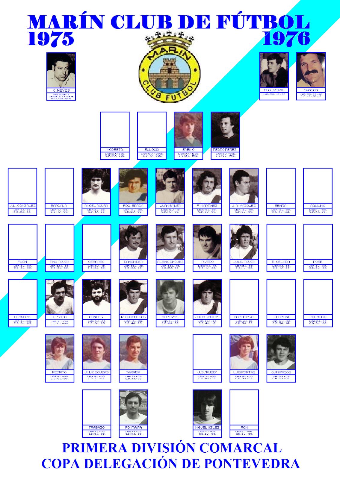 LABERINTO DEPORTIVO de Sena: MARÍN CLUB DE FÚTBOL : 1975 - 1976