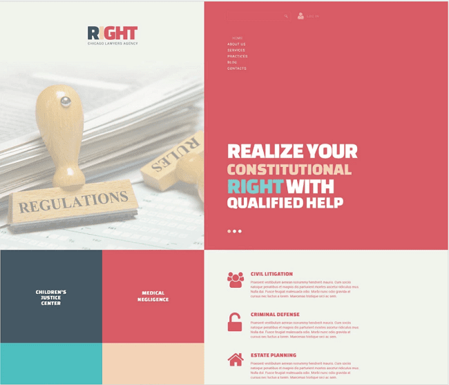 Lawyer Agency template