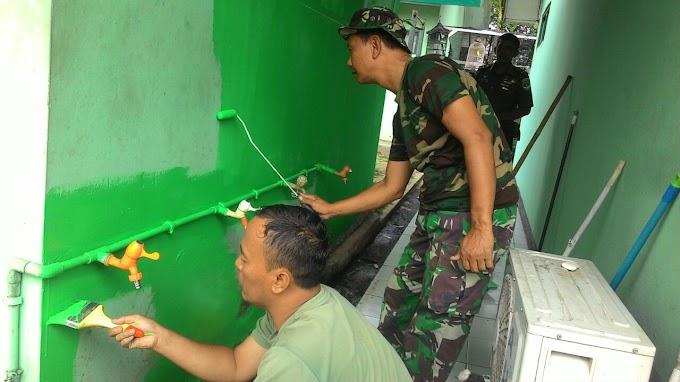 Jelang HUT TNI, Koramil 07/Limo Percantik Pangkalan