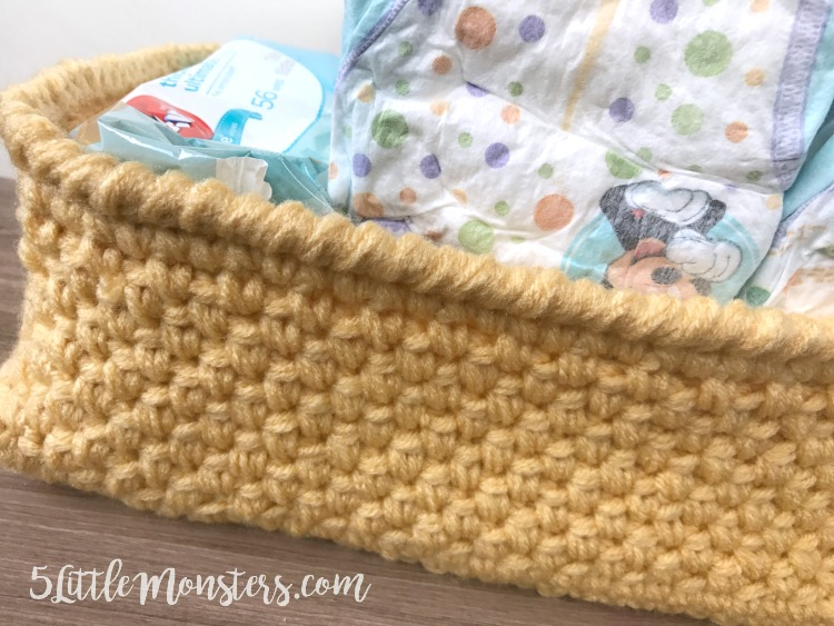 Make your own crocheted storage basket