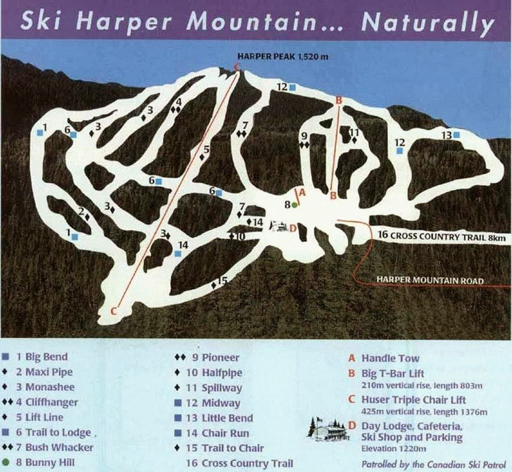 Harper Mountain Ski Area, British Columbia - Where is the Best Place for Skiing And Snowboarding in Canada