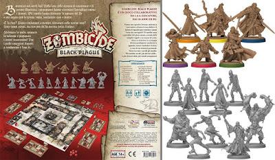 Zombicide Black Plague (retro box + miniature)