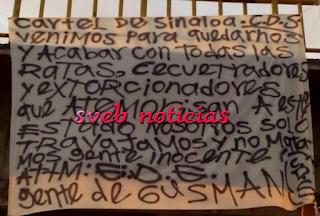 Cartel de Sinaloa con narcomanta anuncia limpia en Guanajuato