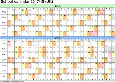 school year calendar printable