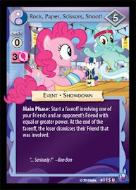 My Little Pony Rock, Paper, Scissors, Shoot! Canterlot Nights CCG Card