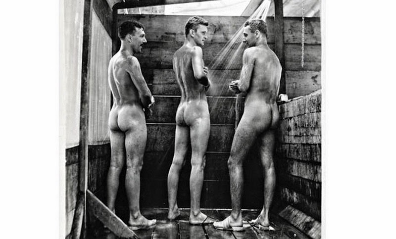Naked pissing sportsmen and gay men pissing
