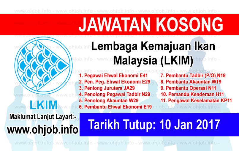 Jawatan Kerja Kosong Lembaga Kemajuan Ikan Malaysia (LKIM) logo www.ohjob.info januari 2017