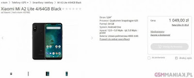 Xiaomi Mi A2 Lite spesifikasi