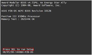Cara Setting Bios Agar booting dari Flashdisk
