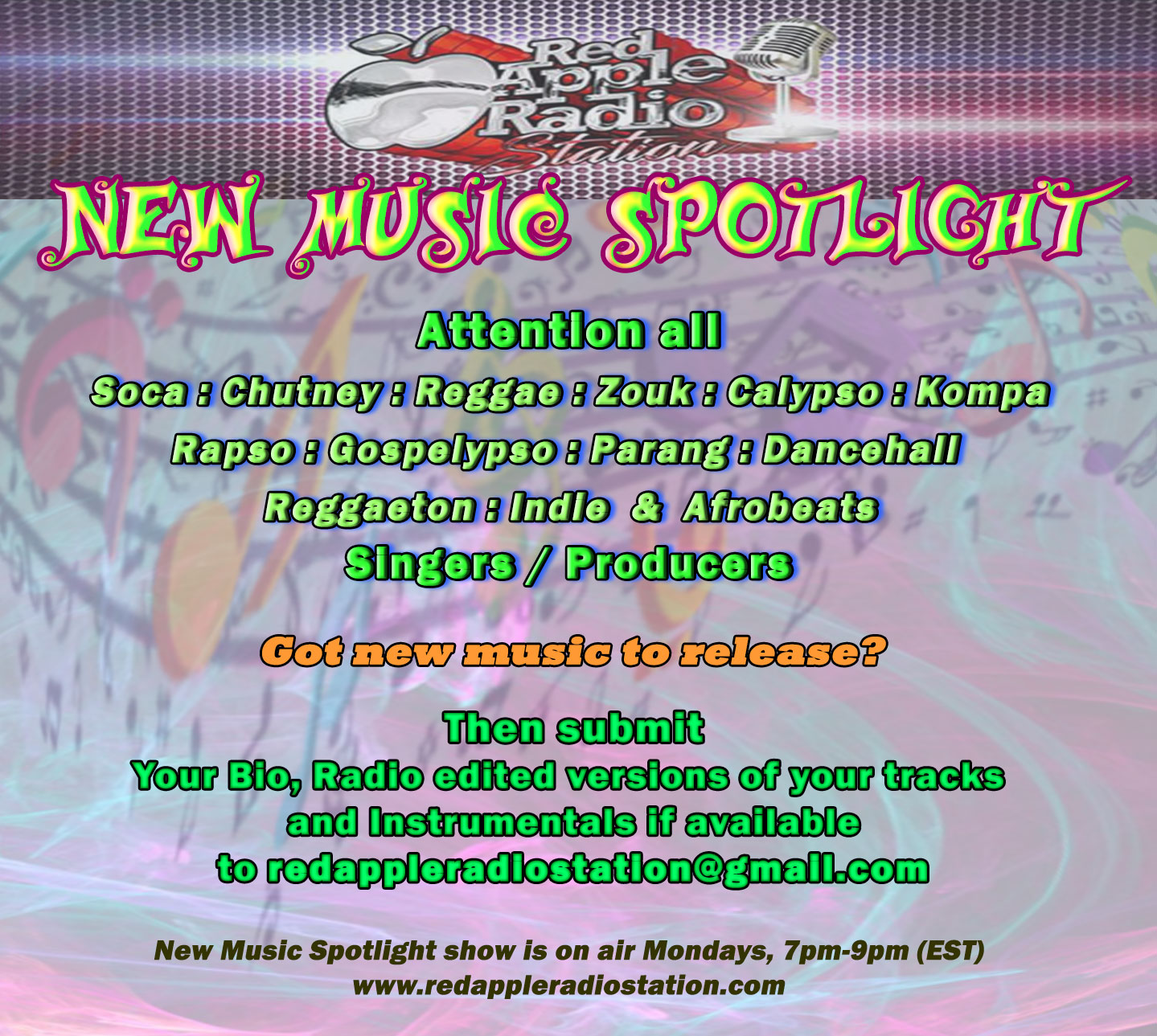Red Apple Radio Station: New Music Spotlight - Submit your music