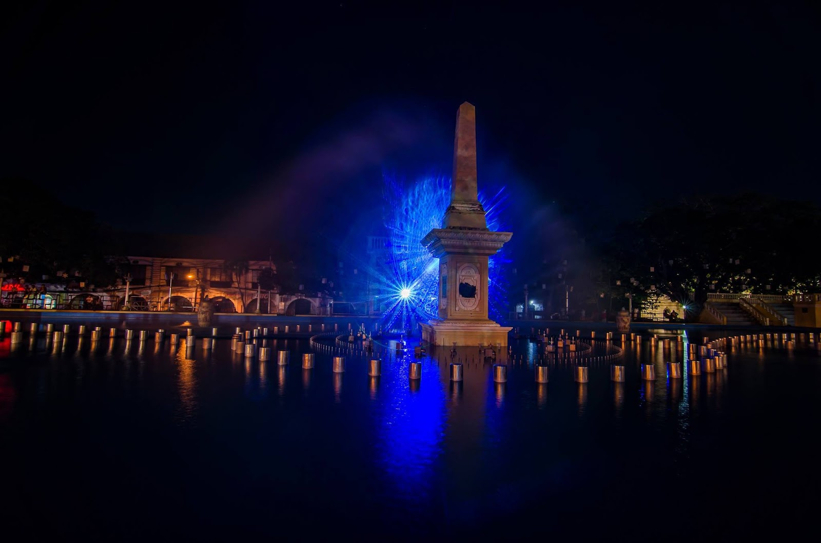 Vigan City Plaza Salcedo Fountain Laser Lights