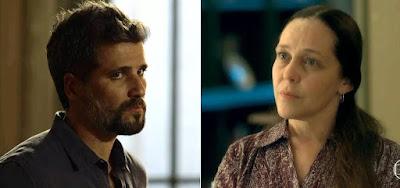 Gabriel (Bruno Gagliasso) e Judith (Isabela Garcia) terão embate na reta final de O Sétimo Guardião
