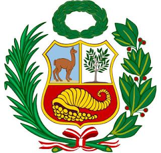 Dibujo del Escudo de Armas del Perú a color