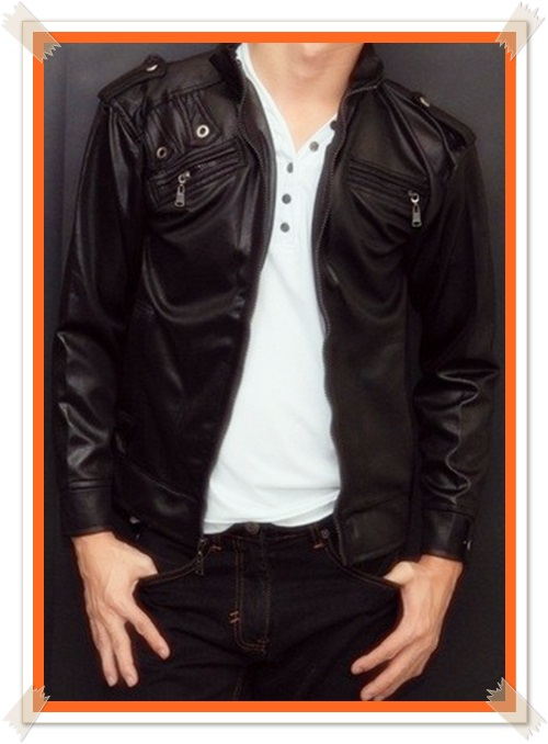 gambar model jaket kulit keren