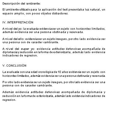 MODELO DE INFORME DEL TEST DEL ÁRBOL ~ Psicología - formato de informe escrito