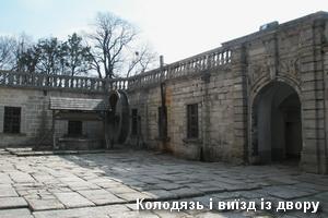 Криниця і брама у дворі замку