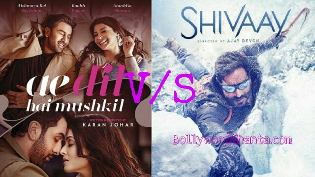 Ae dil he mushkil, shivaay  box office report