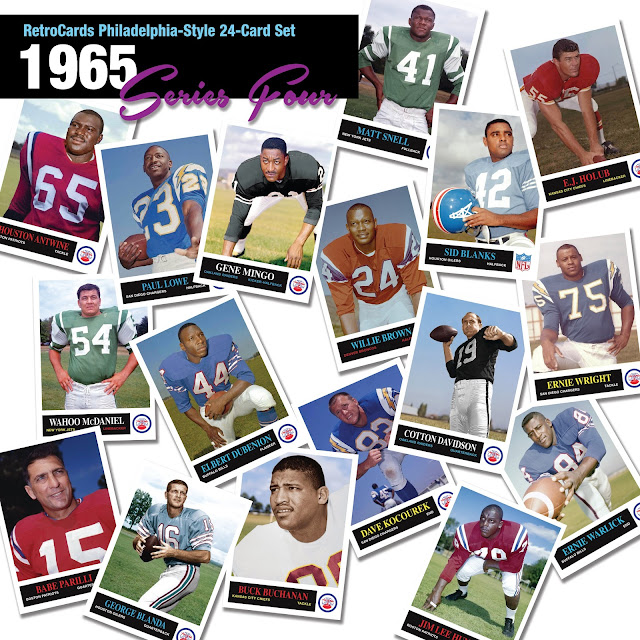 Topps 1965 NFL football cards