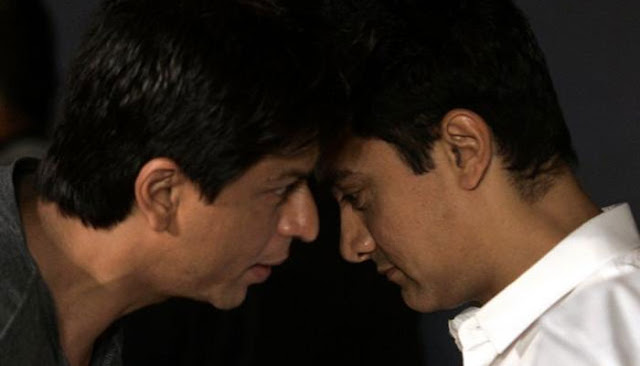 Shah Rukh Khan, Aamir Khan, tug of war