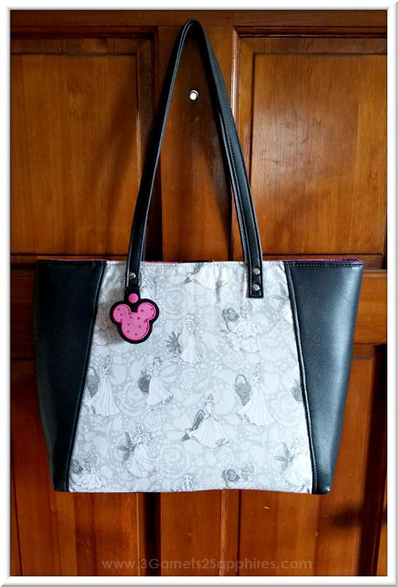 Custom Disney Princesses Handbag   3 Garnets & 2 Sapphires
