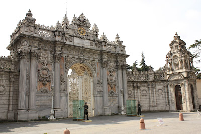 Imperial Gate of Dolmabahce Palace in Istanbul