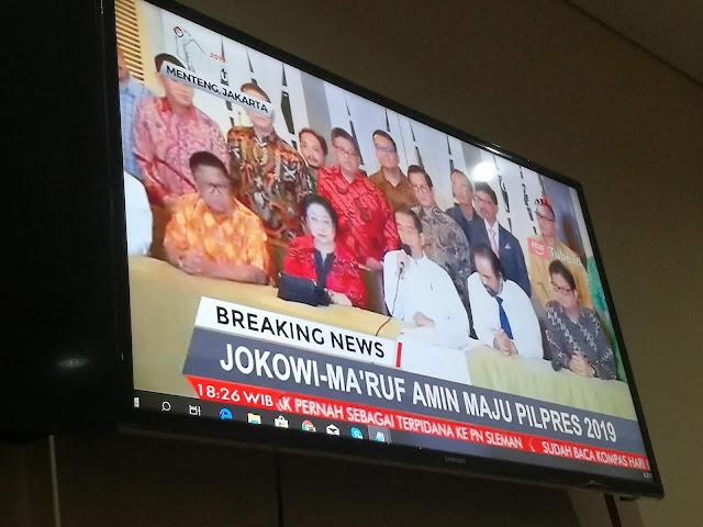 Akhirnya, Jokowi Tunjuk Ketua MUI Sebagai Cawapres 2019