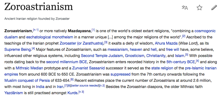 essay about zoroastrianism Zoroastrianism derives its names from its the image of zoroaster used for this essay has been adapted with alterations from wikimedia commons under gnu.