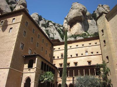 Gothic cloister of Montserrat Abbey