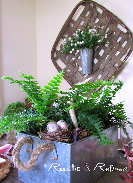 Spring Tablescape using fresh colors and rustic decor