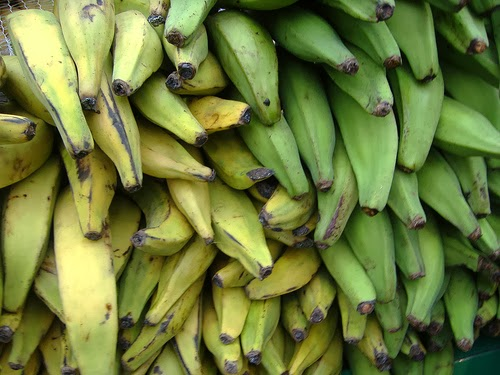 Plantains are one staple food of Africa