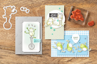 Stampin' Up! Sale-a-Bration So Hoppy Together + Hop Around Framelits