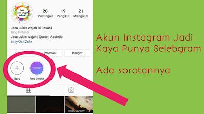 membuat sorotan instagram