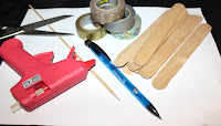 matériels pour la réalisation du sapin en bois diy