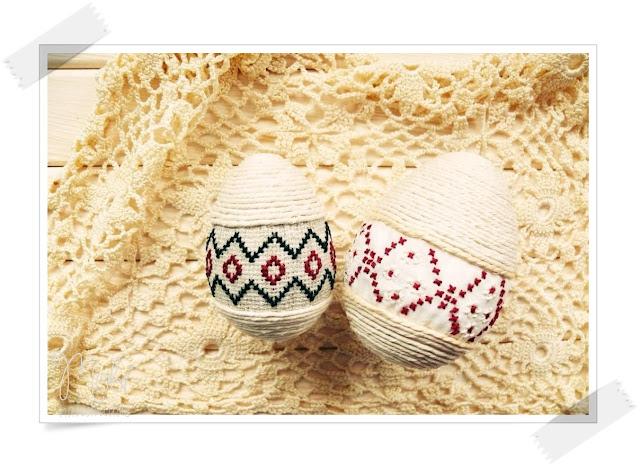 haft, home decor, jajka decoupage, jajka haftowane, jajka z piór, pisanki, świąteczne inspiracje, Wielkanoc, wielkanocne dekoracje,