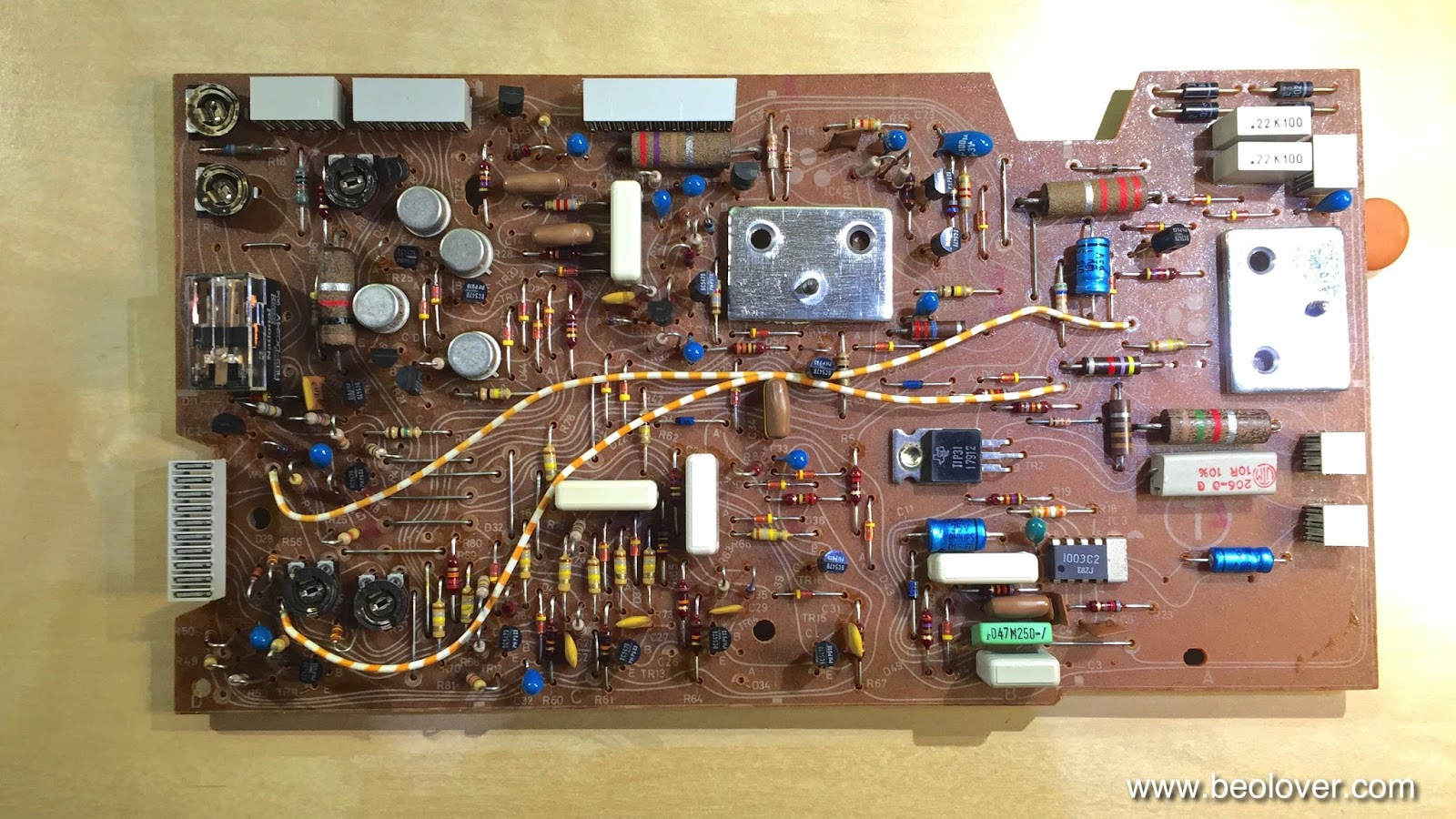 Beolover Beogram 4004 5525 Replacing Electrolytic Capacitors And Dc Motor Control Using Relay The Original National Rpm Trimmers In Detail