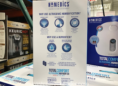 Costco 1144523 - HoMedics Total Comfort Ultrasonic Humidifier: great for any home