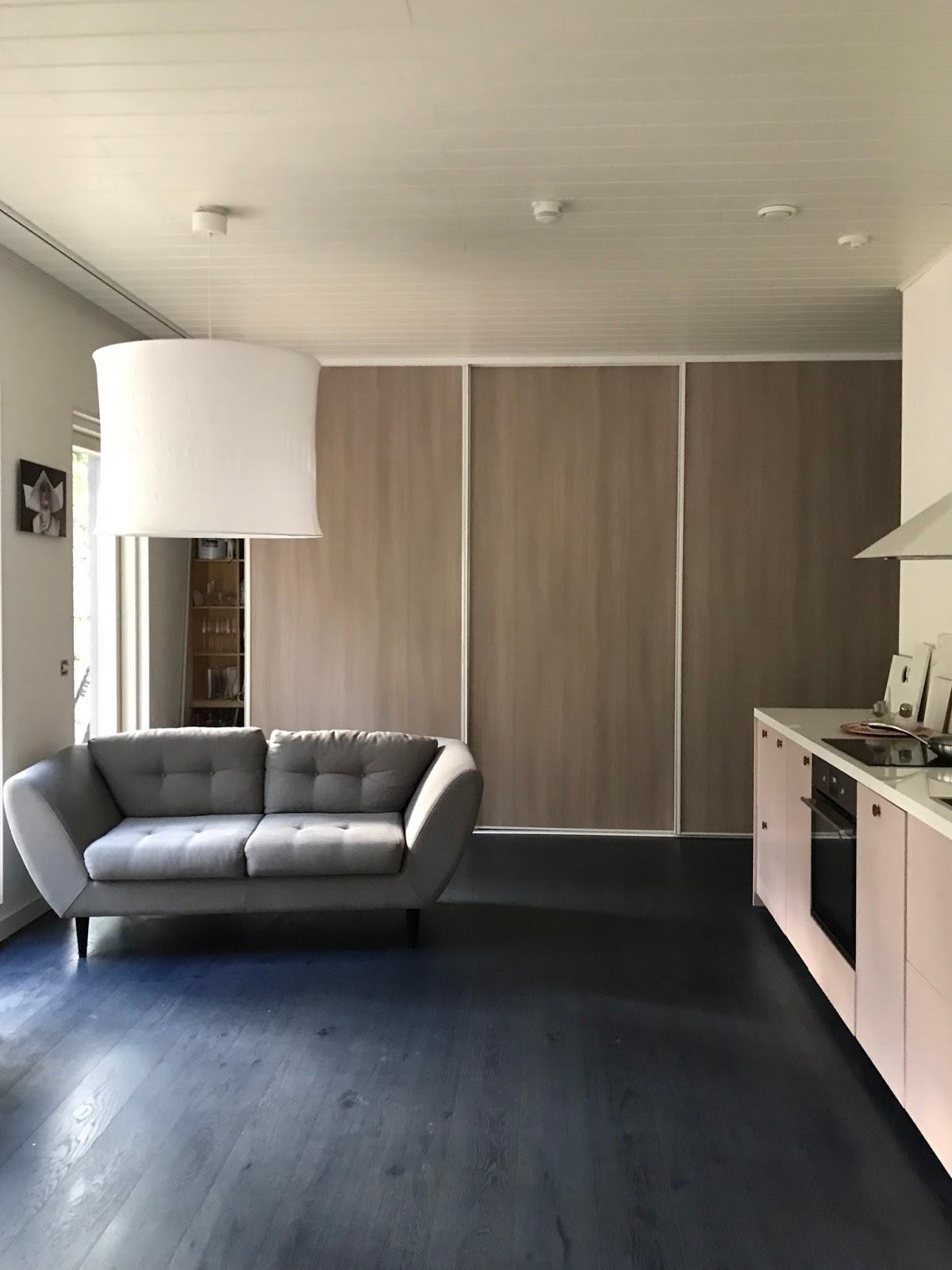 Omakotitalo 72 m2 Olohuone keittiö yhdistelmä
