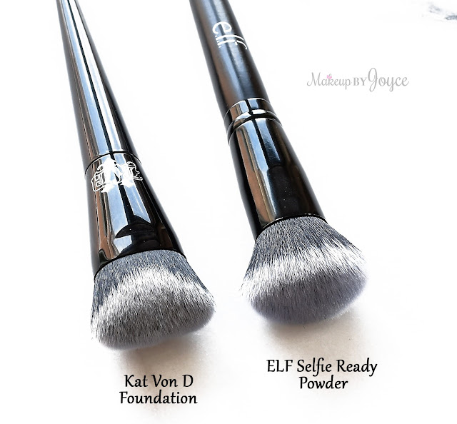 Kat Von D Lock-It Edge Foundation Brush Dupe ELF Selfie Ready Powder