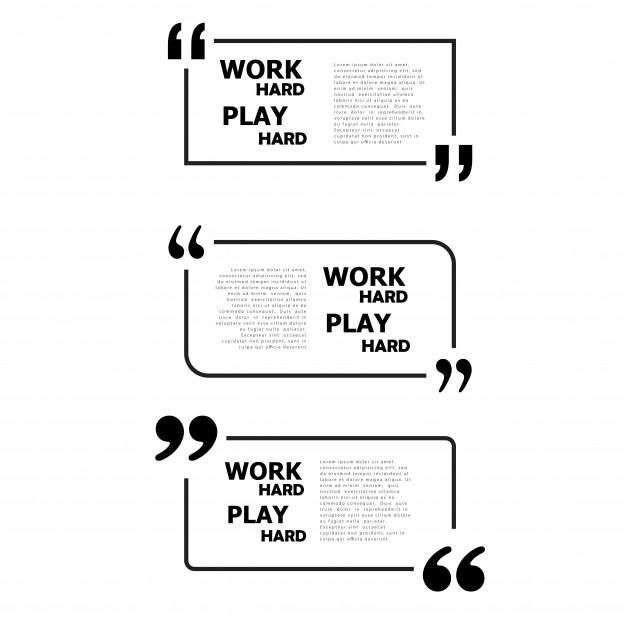 Work hard play hard. Free Vector