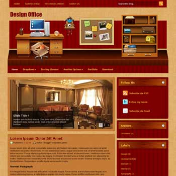 Design Office Blogger Template. Design Office template blogspot free